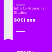 Sociology 200: Introduction to Women's<br />