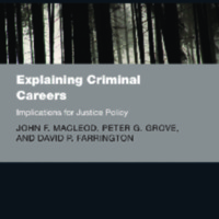 Explaining Criminal Career