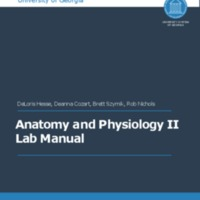 UGA Anatomy and Physiology 2 Lab Manual